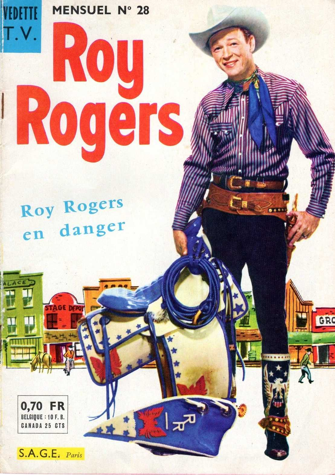Scan de la Couverture Roy Rogers Vedettes TV n° 28