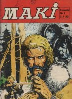 Scan de la couverture Maki du Dessinateur Bruno Marraffa
