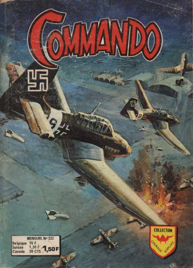 Scan de la Couverture Commando n° 222